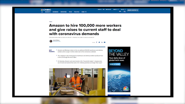 IWD Agency | Amazon hires 10,000  more workers