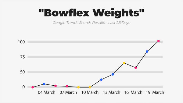 IWD Agency Google Trends Google Search Results Bowflex Weights