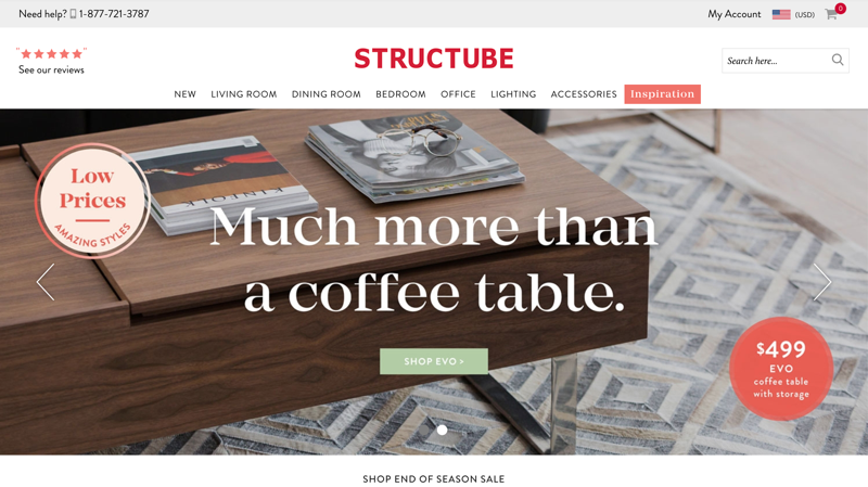 Structube Homepage