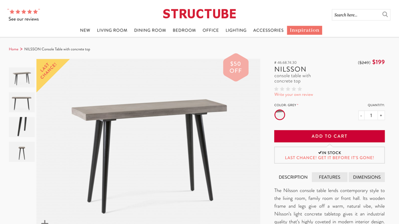 Structube Product Page
