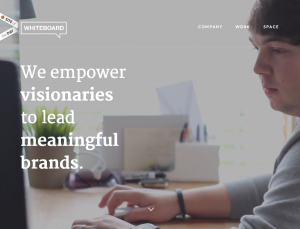 Whiteboard | We empower visionaries to lead meaningful brands.