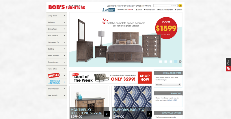 Bob's Furniture Home Page