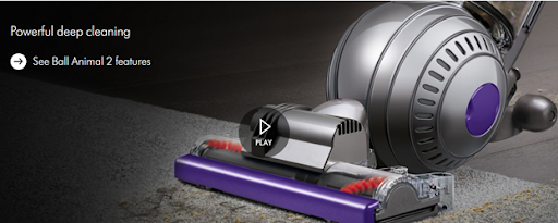 Dyson Vacuum Product Page Example