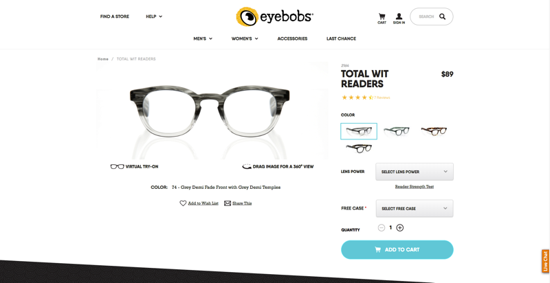 eyebobs Product Page