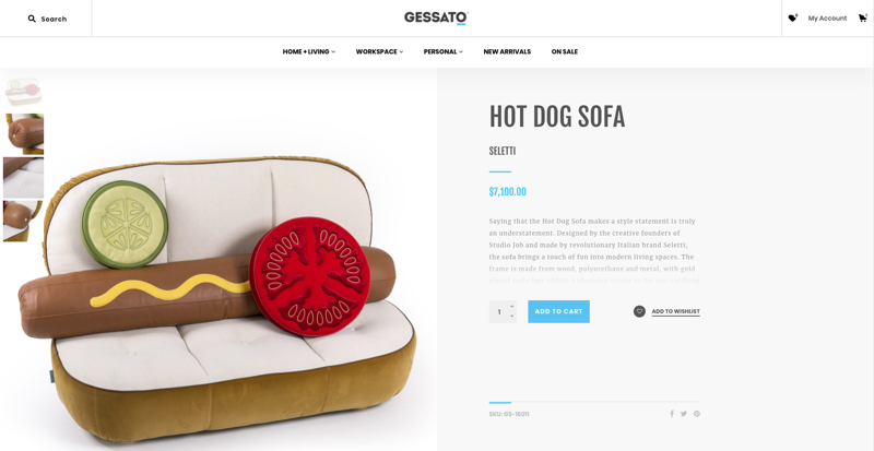Gessato Product Page