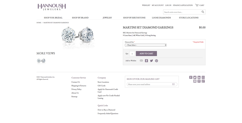 Hannoush Product Page