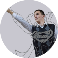 Alexey as Superman