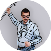 Sergiy as Gordon Freeman