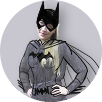 Irina as Batgirl