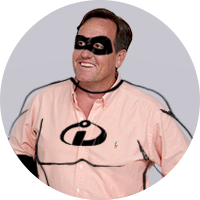 Kevin as Mr. Incredible