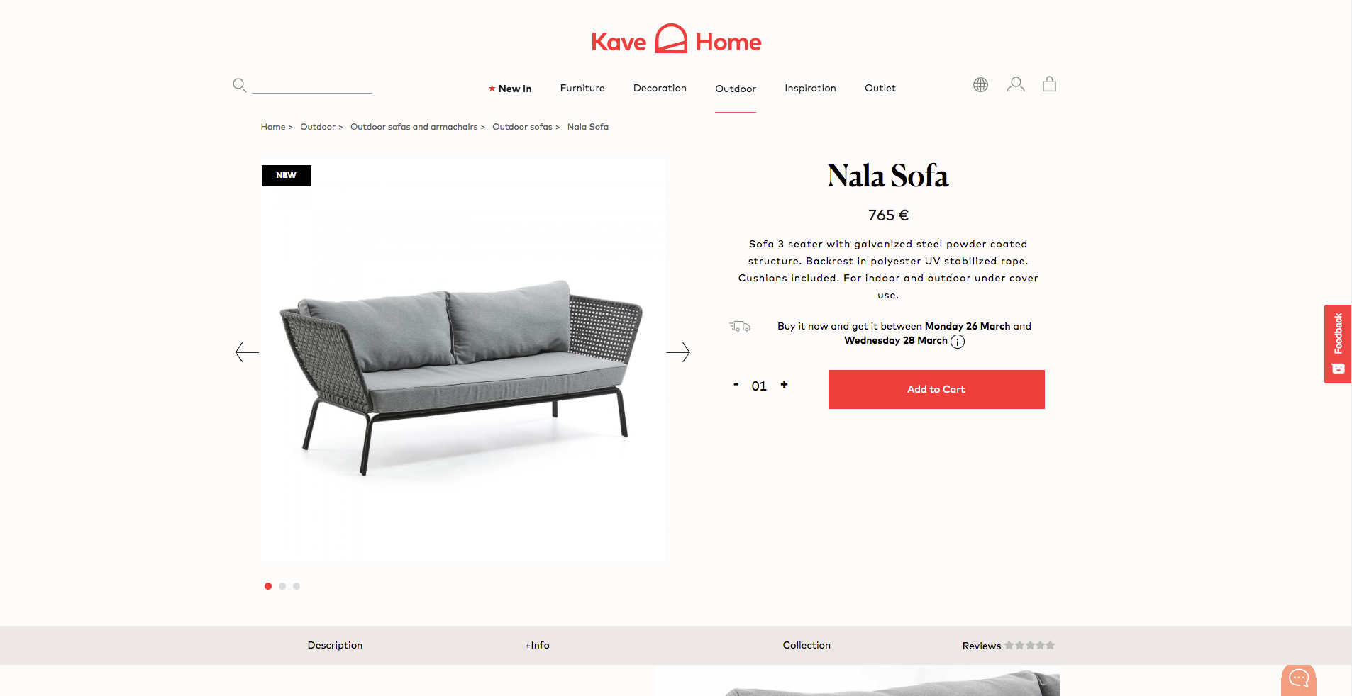 Kave Home Product Page