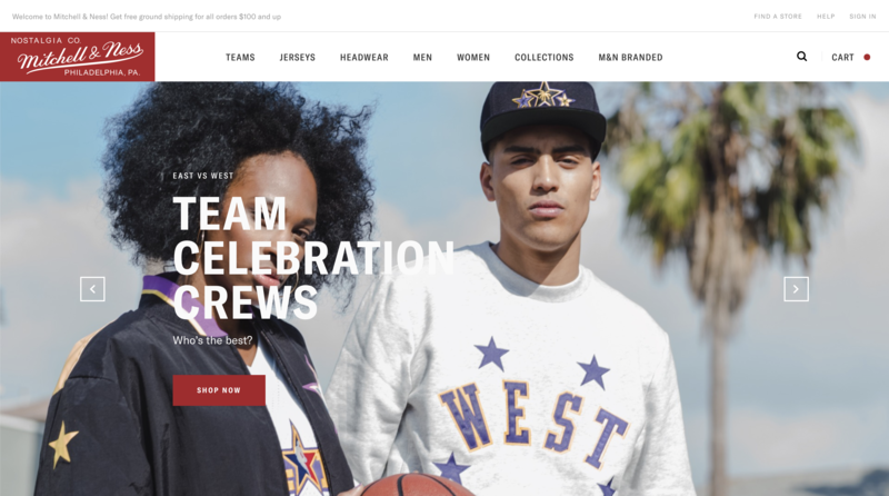 Mitchell and Ness Home Page