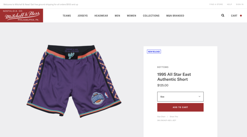 Mitchell & Ness Product Page