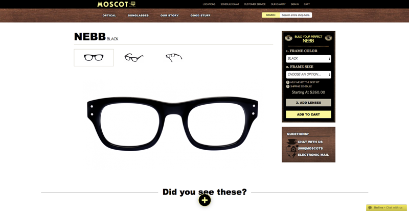 Moscot Product Page