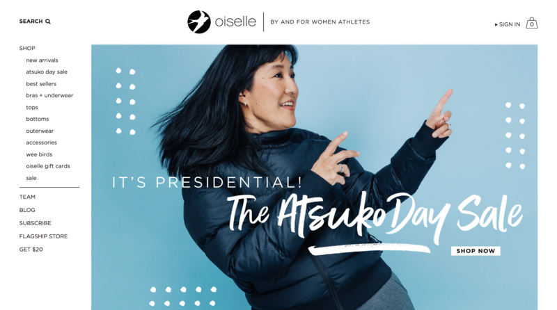Oiselle Home Page