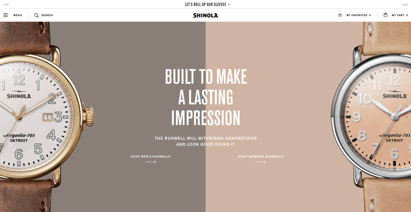 Shinola Homepage