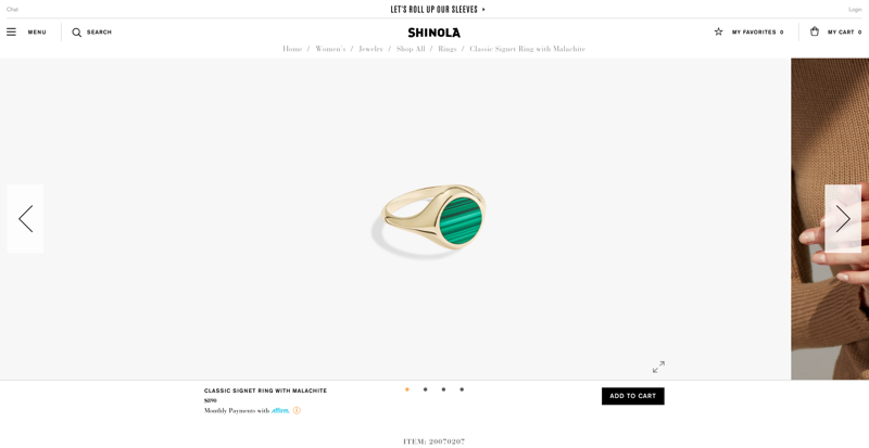 Shinola Product Page