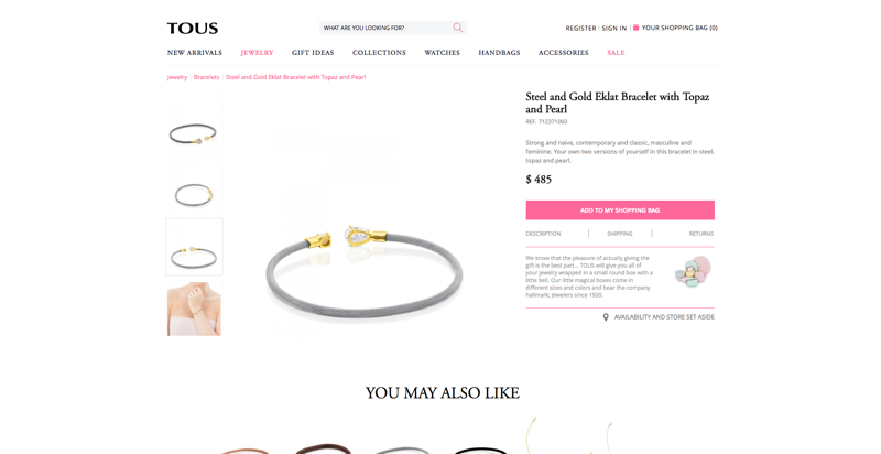 Tous product page