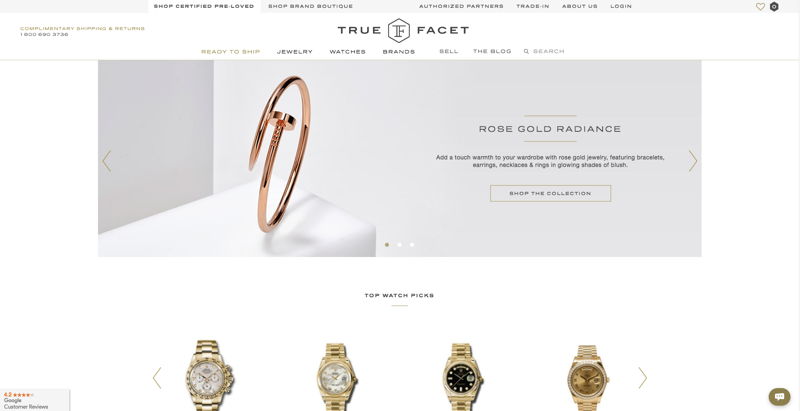 True Facet Homepage