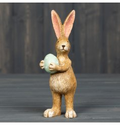 Standing Bunny Rabbit with a green egg 14 cm