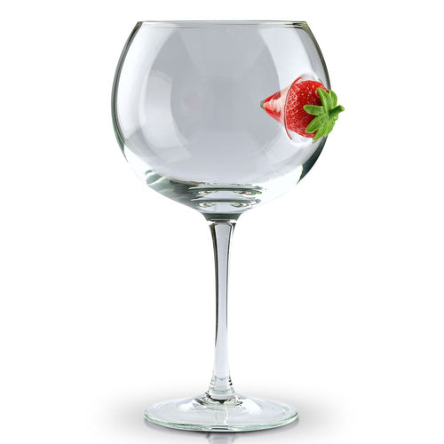 Ice & Slice Balloon Copa Gin Glass-Strawberry