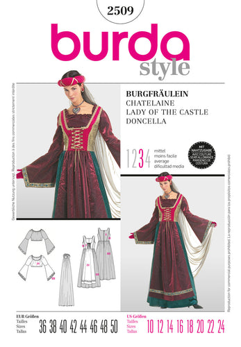 Burda Style B2509 Lady of the Castle Costume Sewing Pattern