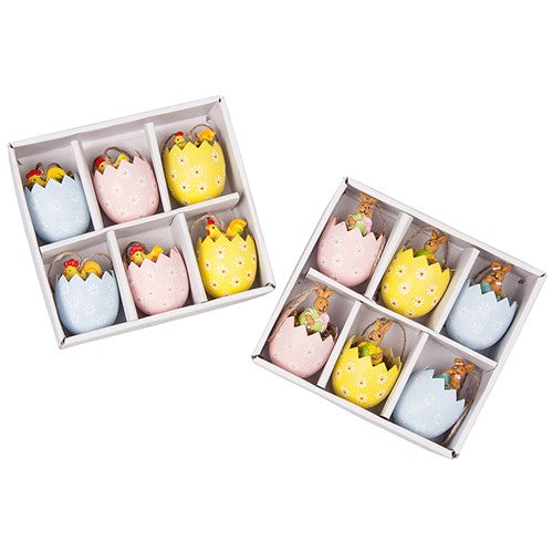 Box of Easter Fun 6 Filled Eggs Decorations