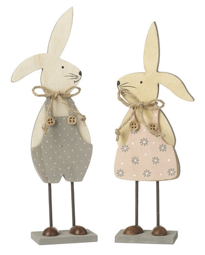 Wooden Rabbit Decoration