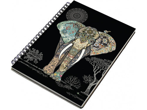 Elephant Spiral Notebook A6