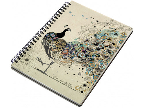 A6 Peacock Design Notebook