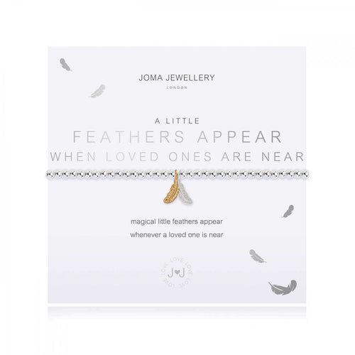 A Little Feathers Appear When Loved Ones Are Near Bracelet | Joma Jewellery