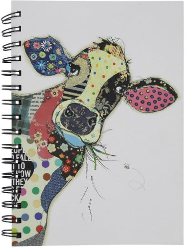 Bug Art Cow Notebook A6