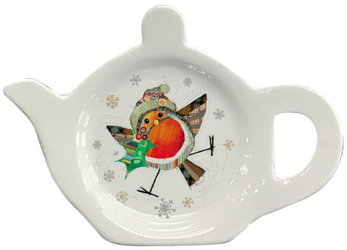 Bug Art Festive Robin Teabag Tidy