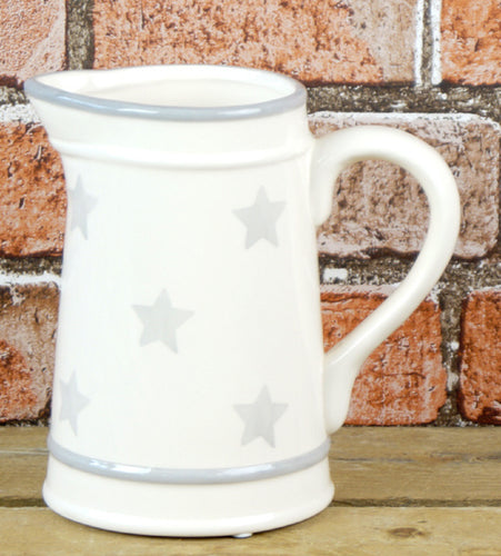Grey Stars Ceramic Jug