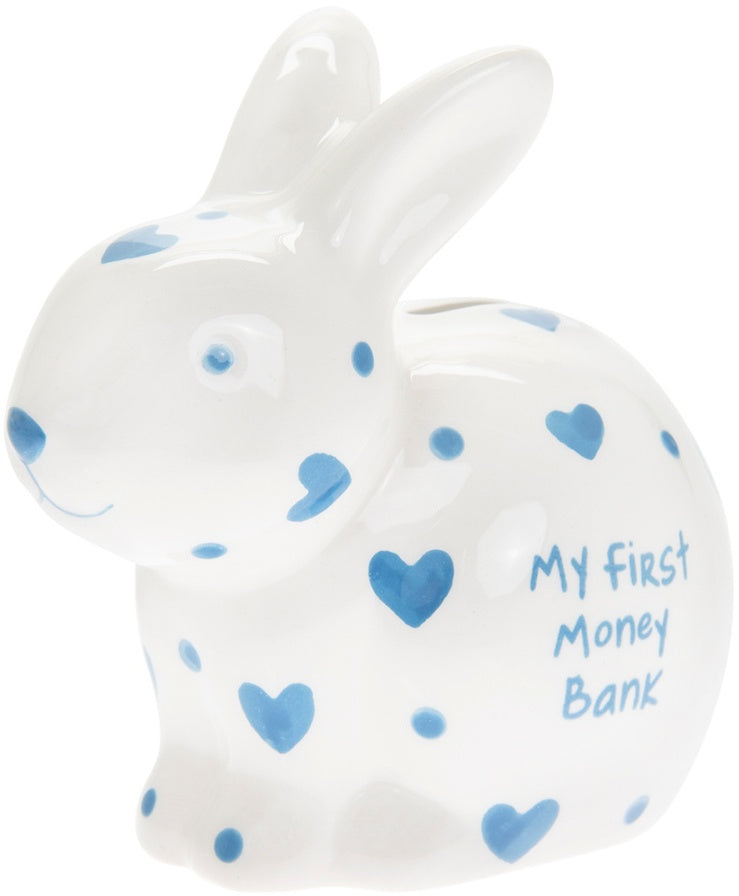 My First Bunny Money Box-Blue