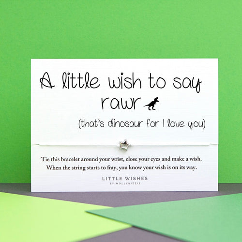 Little Wishes-A little wish to say rawr (that's dinosaur for i love you) Bracelet