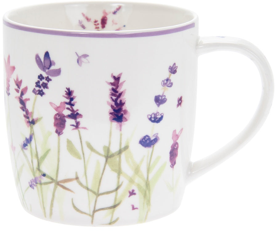 Purple Lavender Ceramic Breakfast Mug