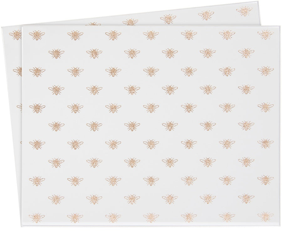 Golden Bee Mirrored Placemats