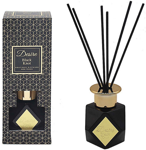 Luxe themed Black and Gold reed diffuser filled with a delightfully scented oil