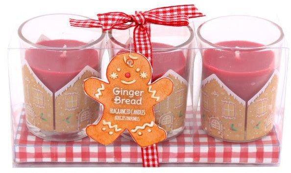 Set of 3 Gingerbread Candles
