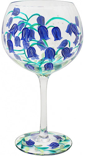 Painted Blue Bells Gin Glass