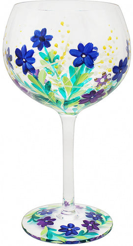 Painted Meadow Flower Gin Glass