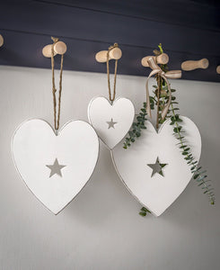 Hanging Wooden Heart With Star