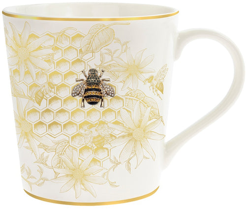 Fine China Gold Bee Hive Mug
