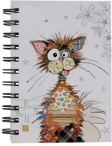 BUG ART ZIGGY CAT DESIGN A6 NOTEBOOK