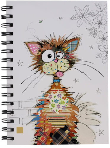 Bug Art Ziggy Cat Design A5 Notebook