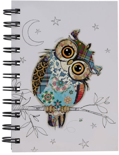 BUG ART OWEN OWL DESIGN A6 NOTEBOOK