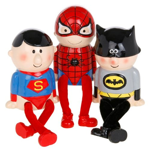 Superhero Dangly Leg Money Box