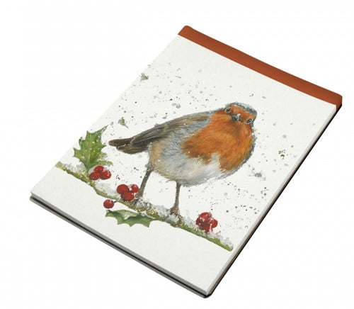 Festive Robin Mini Notebook