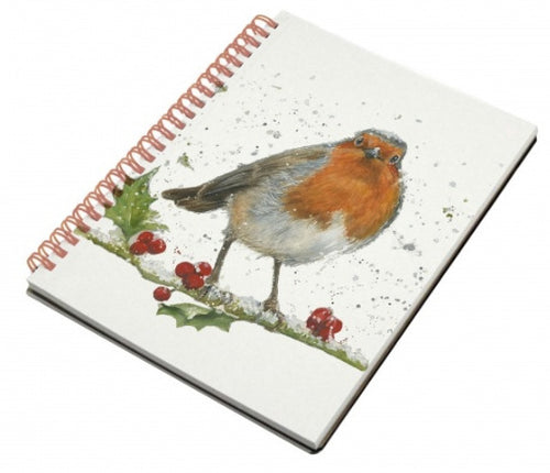 Festive Robin Notebook A6